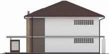 Проект простого двухэтажного дома со встроенным гаражом