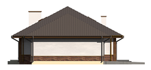 Проект большого загородного коттеджа с гаражом и мансардой