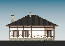 Оригинальный дом с мансардой в стиле шале