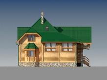 Дом с мансардой из бруса