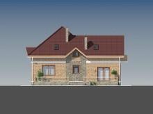 Удобный дом с мансардой в английском стиле