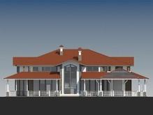 Проект представительной двухэтажной усадьбы в американском стиле