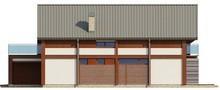 Проект просторного коттеджа с террасой над гаражом