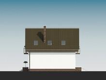 Проект компактного уютного дома с мансардой