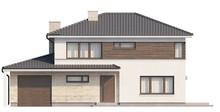 Проект двухэтажного современного дома с гостиной