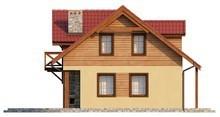 Проект дома с камином на террасе