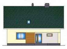 Проект 1,5-этажного коттеджа с дополнительной спальней на первом этаже