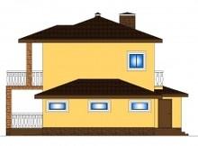 Проект загородного коттеджа с гаражом