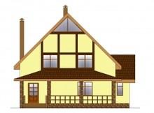 Компактный дом с мансардой