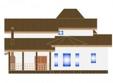 Загородный дом с библиотекой на втором этаже