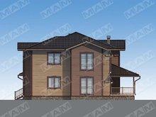 Архитектурный проект жилого дома с деревянным дизайном фасада