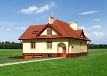 Архитектурный проект стильного особняка с девятью спальнями