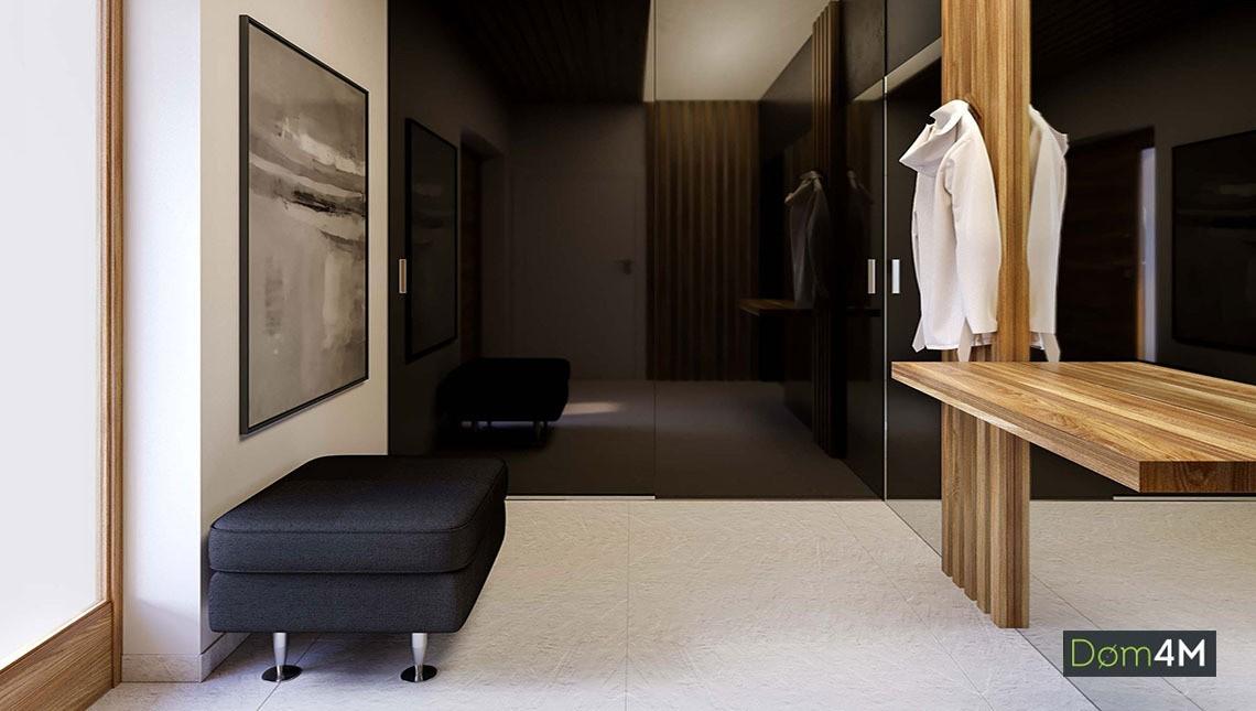 Одноэтажный стильный коттедж с просторной гостиной