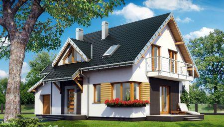Проект загородной усадьбы с четырьмя спальнями и гаражом
