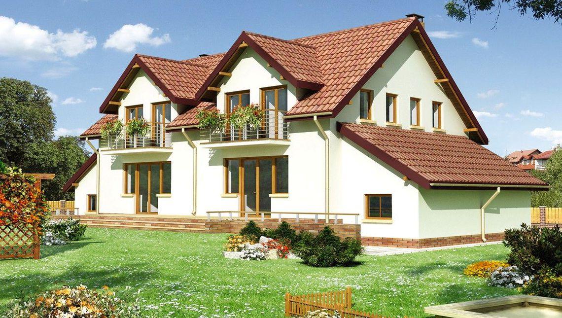 Архитектурный проект оригинального таунхауса с площадью 140 m²