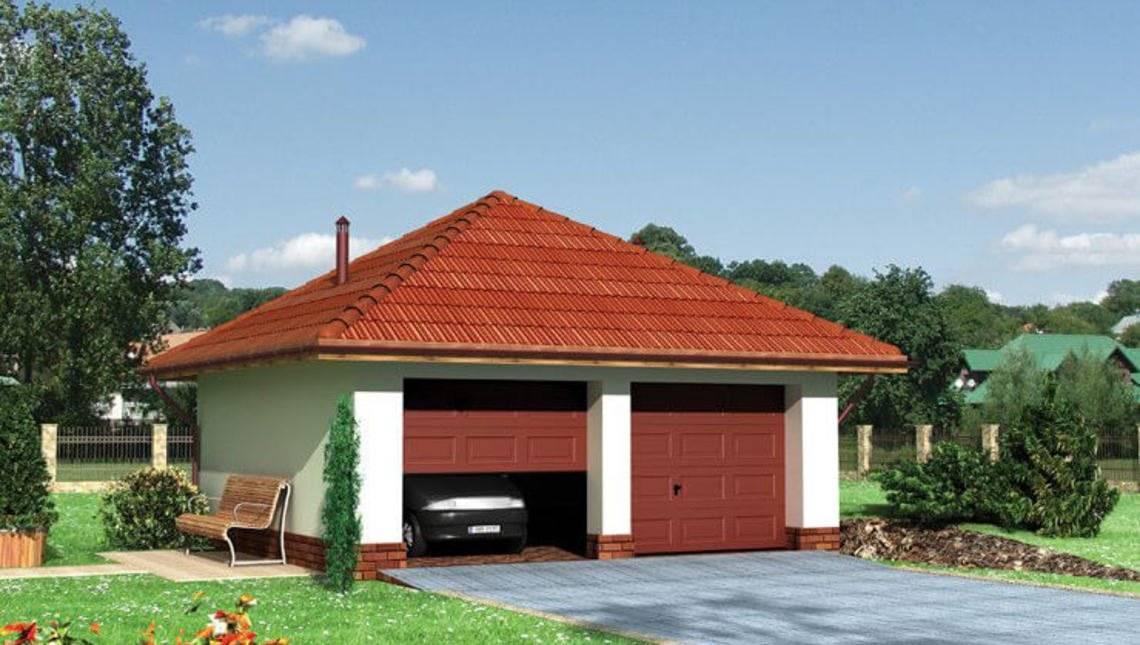 Архитектурный проект гаража на 2 машины