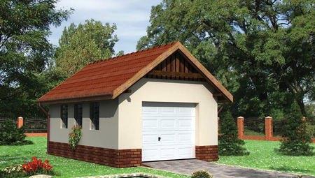 Проект гаража на 28 м²