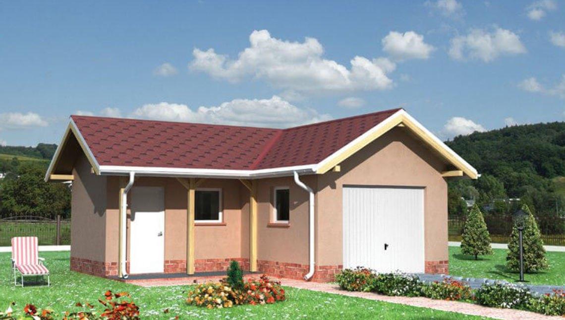 Архитектурный проект гаража с хозяйственным помещением