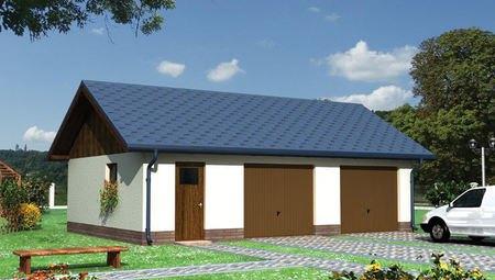 Проект гаража с кладовкой на 50 м²