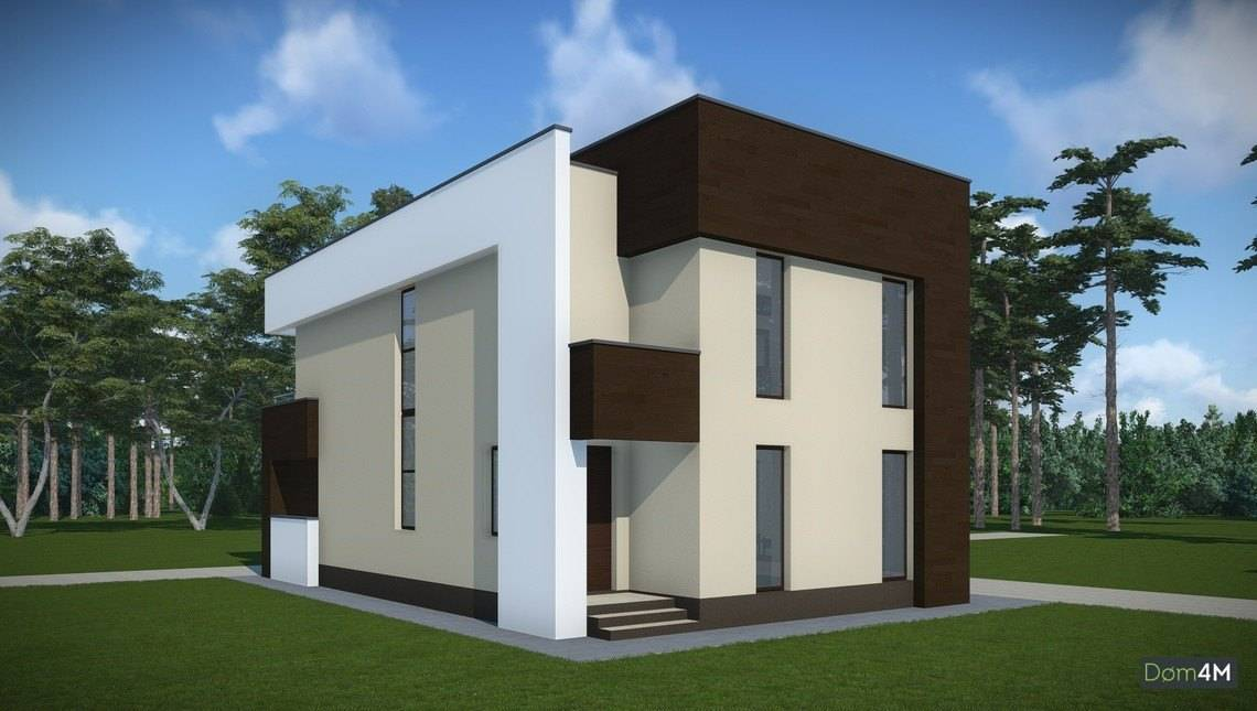 Архитектурный проект ультрасовременного коттеджа на два этажа