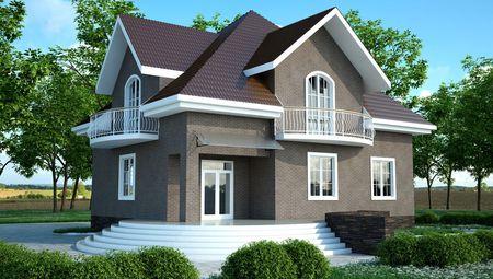 Проект изысканного дома необычной архитектурной формы