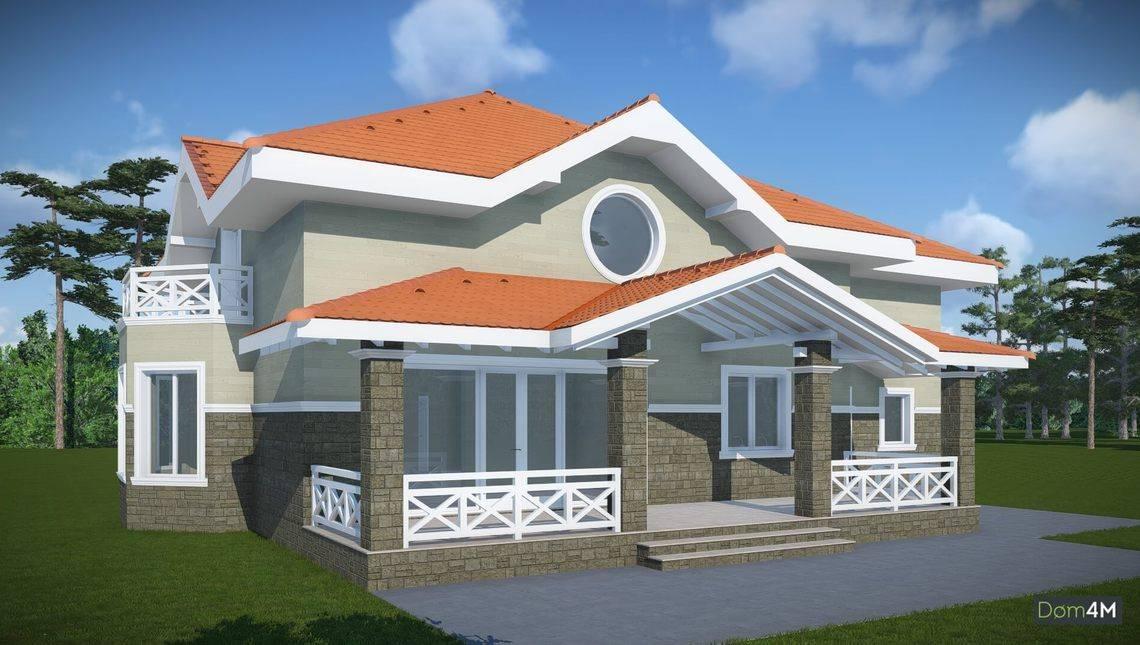 Проект жилого особняка с комфортабельными спальнями