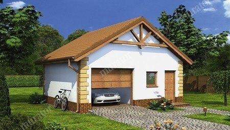Красивый гараж на 1 автомобиль