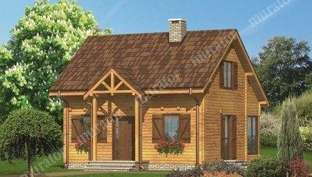 Красивый дом со ставнями