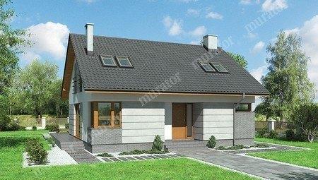 Двухэтажный дом квадратной формы