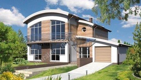 Роскошный дом под необычной крышей