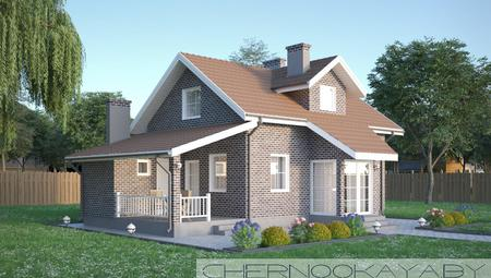 Двухэтажный стильный дом необычного дизайна