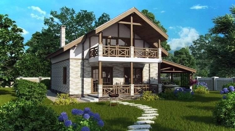 Компактный дом 8*9 в классическом стиле