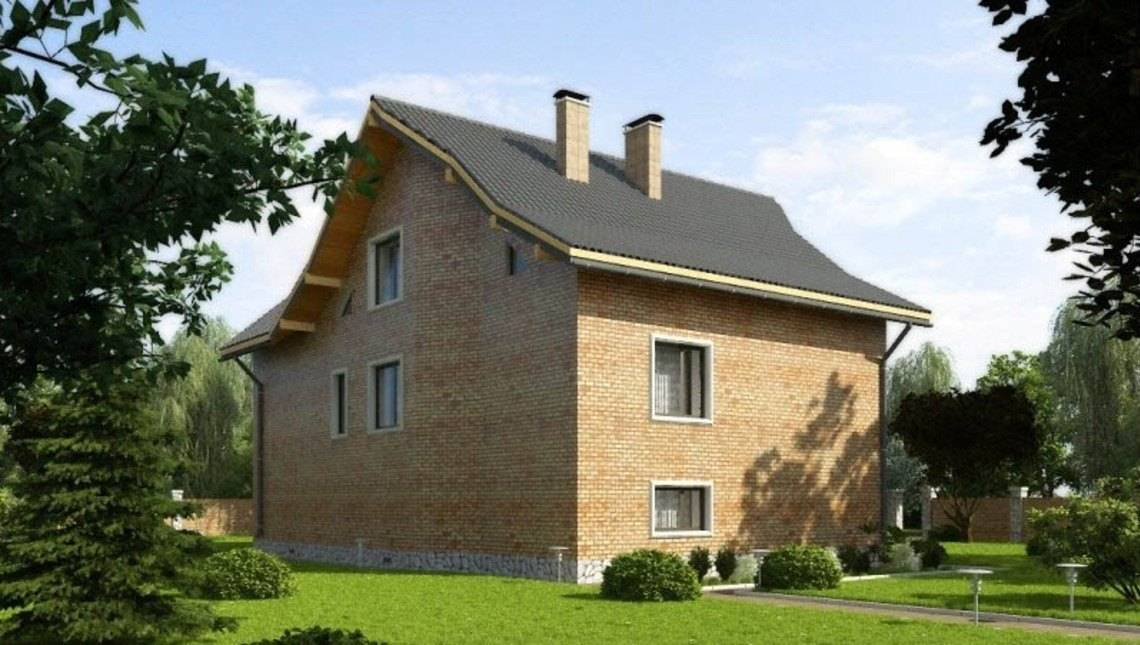 Проект трехэтажного классического особняка