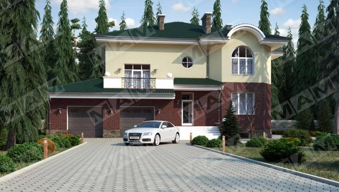Классический особняк с цокольным этажом и гаражом