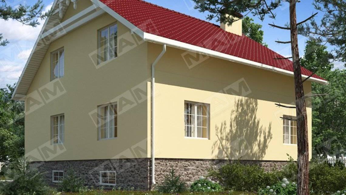 Большой светлый загородный коттедж в традиционном стиле
