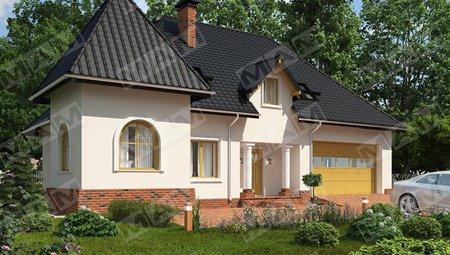 Классический особняк необычной формы в европейском стиле