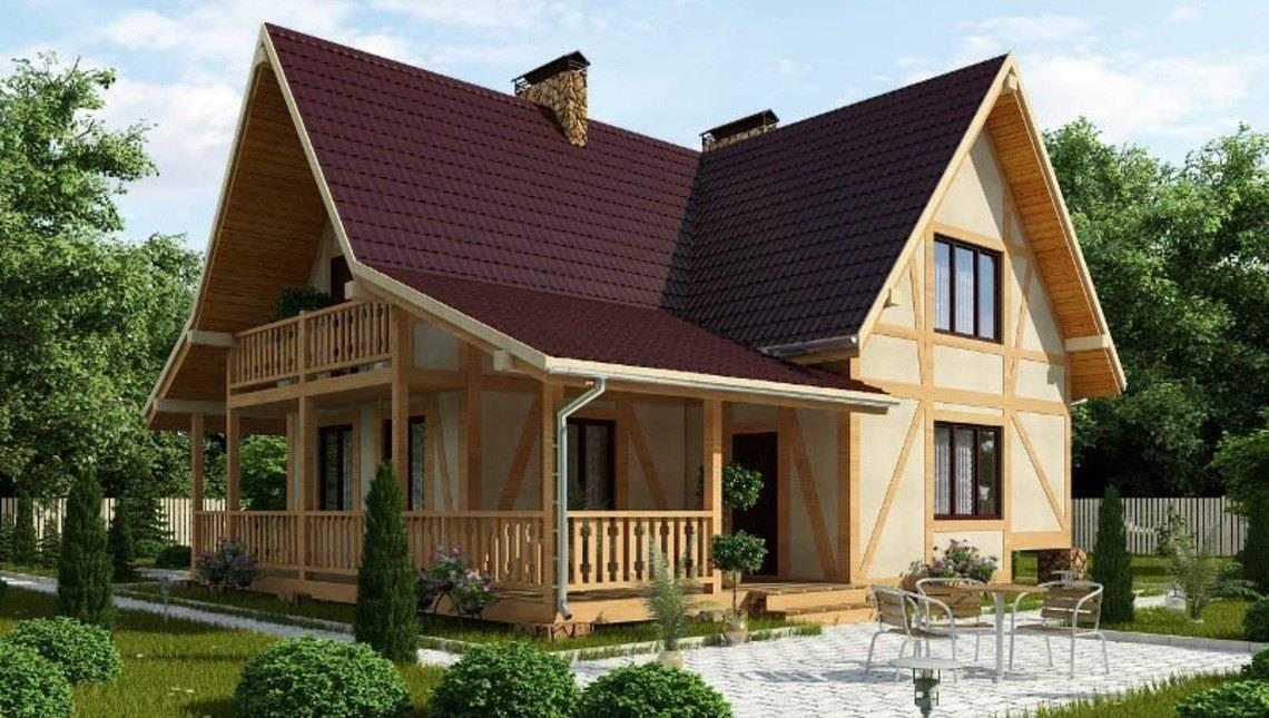 Проект каркасного дома в стиле шале