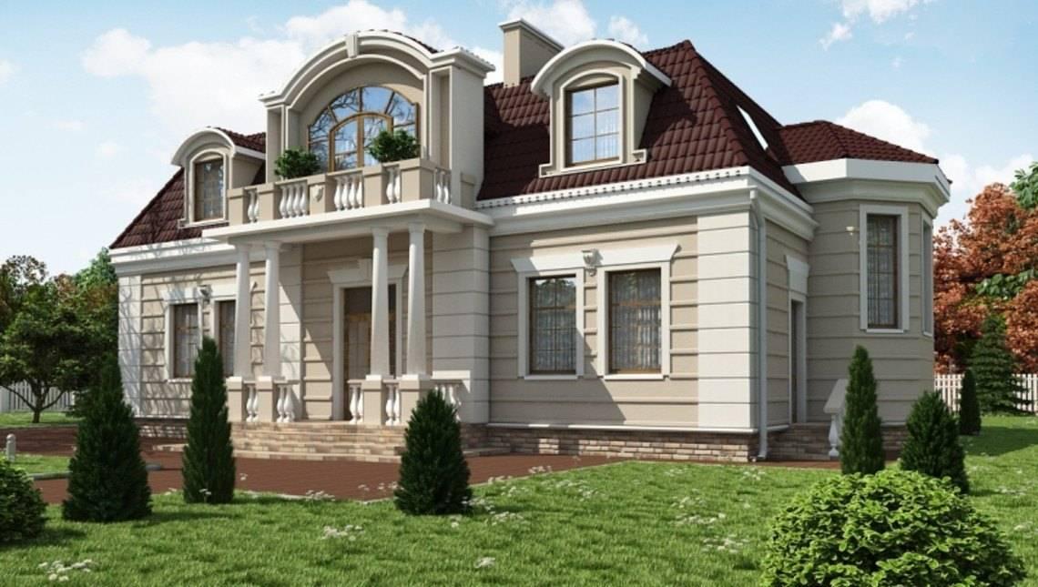 Шикарный проект виллы в классическом стиле