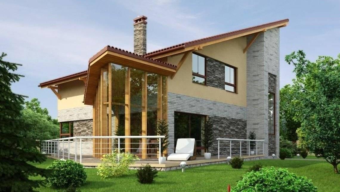 Оригинальный проект дома с бильярдной и зимним садом