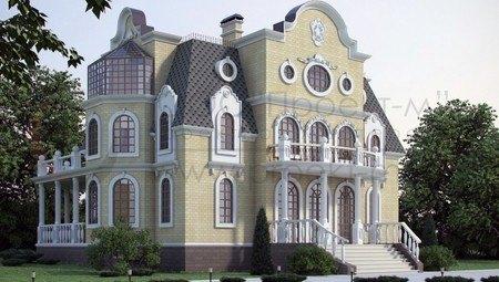 Романтичный проект небольшого красивого замка
