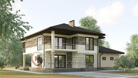 Проект двухэтажного изящного коттеджа