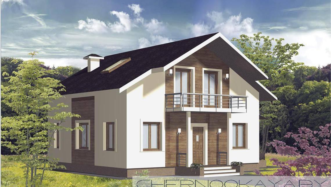 Архитектурный проект загородного дома 130 m²