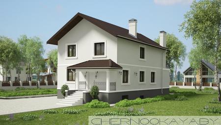 Проект дома с бассейном, сауной и тренажерным залом