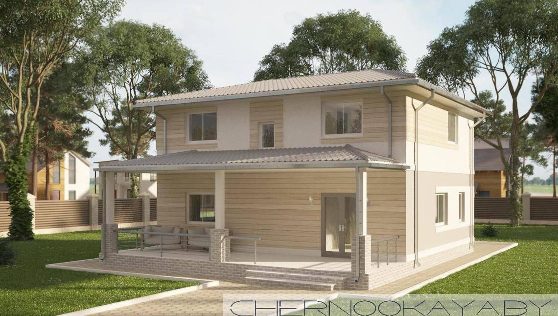 Проект небольшого двухэтажного светлого дома