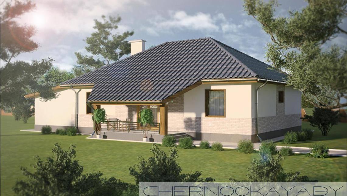 Проект небольшого загородного дома 130 m²