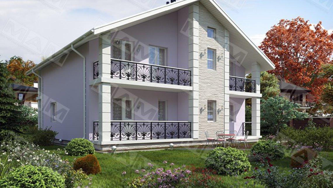 Проект коттеджа с балконами площадью 240 м²