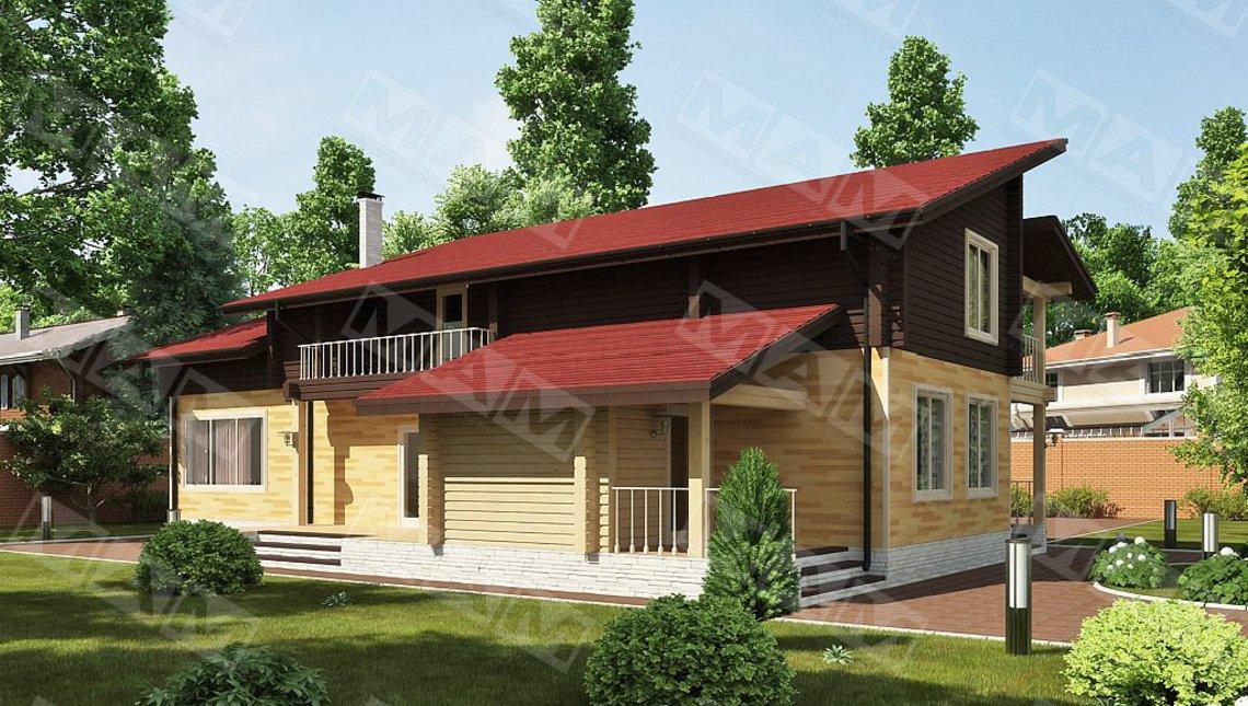 Проект современного дома со вторым светом