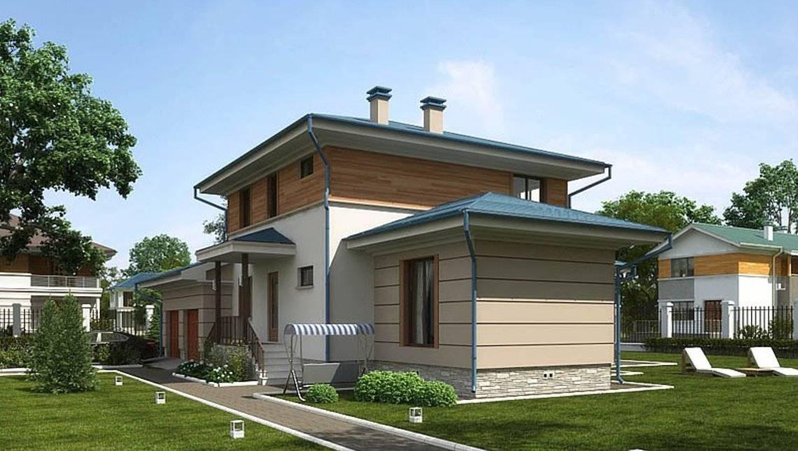 Проект дома с удобной планировкой и небольшой террасой