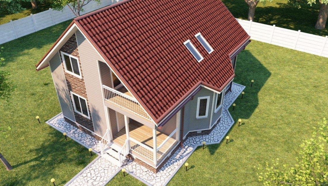 Архитектурный готовый проект небольшого загородного стильного домика