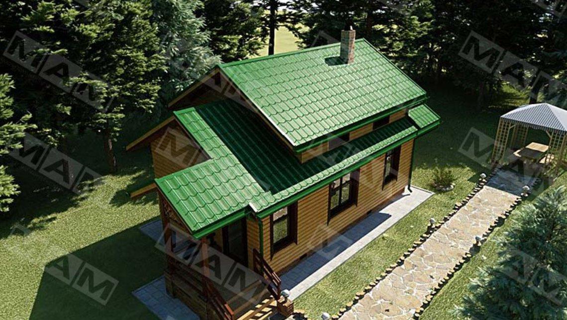 Проект бани совмещённый с гостевым домиком